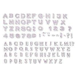 ALADINE Aladine, 54 stempler, bokstaver og tall + svart minifargeputen!