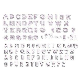 ALADINE Aladine, 54 francobolli, lettere e numeri + mini nero tampone di inchiostro! -