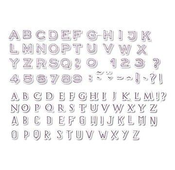 ALADINE Aladine, 54 francobolli, lettere e numeri + mini nero tampone di inchiostro!
