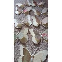 9 Stück 3D Schmetterlinge mit Perlen