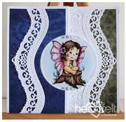 Heartfelt Creations aus USA Le creazioni di cuore: Fairy Sogni, bollo + Stan stencil SET + 8 confini stampi da taglio