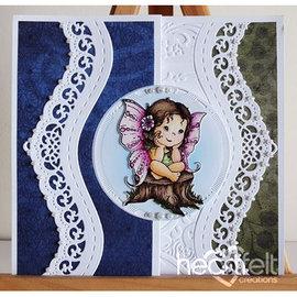 Heartfelt Creations aus USA Creaciones sentidas: Fairy Sueños, conjunto de sello + Stan stencil SET + 8 fronteras troqueles de corte