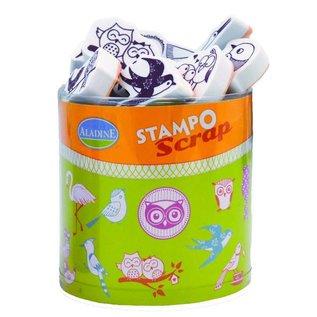 ALADINE ALADINE, scrap stamp SET + mini inkpad black!
