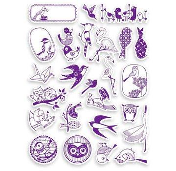 ALADINE Aladine, rottami timbro SET + mini inchiostro pad Black!