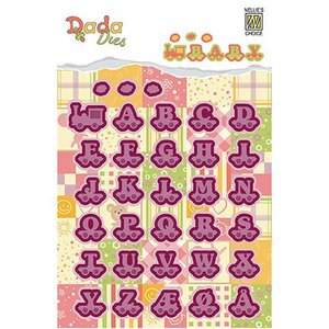 Nellie Snellen Stamping and embossing folders: baby, train with letter wagons