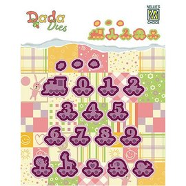 Nellie Snellen Stamping and embossing folders: baby, numbers