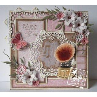 Joy!Crafts / Jeanine´s Art, Hobby Solutions Dies /  Ponsen sjabloon: sier-cirkel en bloemen