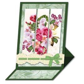 BASTELSETS / CRAFT KITS Bastelset: Triptychonkarten (driebladige kaart) met bloemen