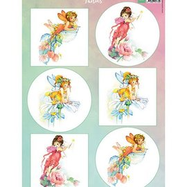 Bilder, 3D Bilder und ausgestanzte Teile usw... foglio A4 delle immagini: Fairies