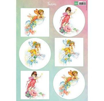 Bilder, 3D Bilder und ausgestanzte Teile usw... A4 Bilderbogen: Fairies