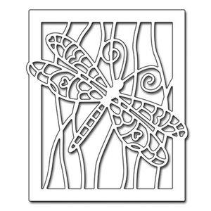 Penny Black Stanzschablone: Libelle im Rahmen