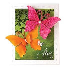 Penny Black Stansning skabelon: sommerfugl med hjerter