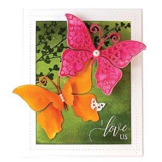 Penny Black Ponsen sjabloon: vlinder met harten