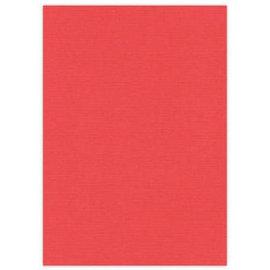 Karten und Scrapbooking Papier, Papier blöcke A4 toile carton, 10 feuilles, rouge