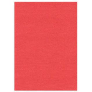 Karten und Scrapbooking Papier, Papier blöcke A4 canvas karton, 10 vellen, rood