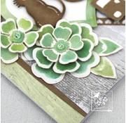 Joy!Crafts / Jeanine´s Art, Hobby Solutions Dies /  Stansning og prægning stencil: blomster med blade