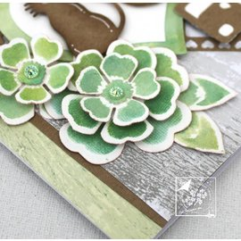 Joy!Crafts / Jeanine´s Art, Hobby Solutions Dies /  Punzonatura e goffratura stencil: fiori con foglie