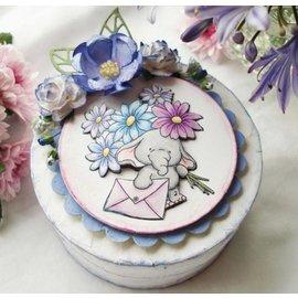 Wild Rose Studio`s A7 stamp set Bella med blomster