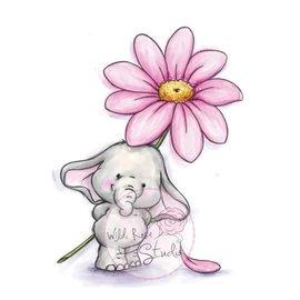 Wild Rose Studio`s A7 stamp set Bella med Daisy