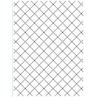 DARICE Embossing folders, diamanten met fijn borduurwerk lijnen