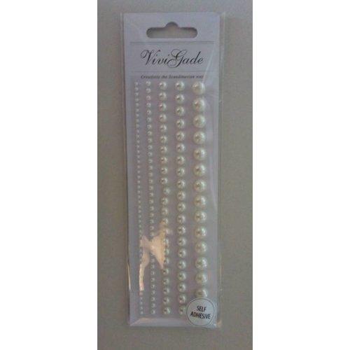 Embellishments / Verzierungen Perles, taille 2-8 mm, blanc, triées 140