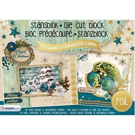 Studio Light Stanzblock A5: Royal Christmas with foil nr.12