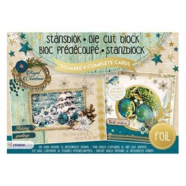 Studio Light Punching block A5: Royal Christmas with foil nr.12