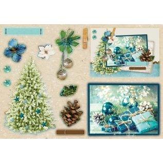 Studio Light Ponche bloque A5: Real de Navidad con papel de aluminio nr.12