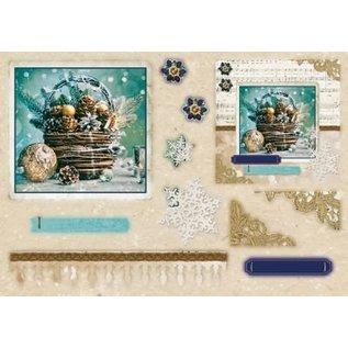 Studio Light Punch blocco A5: Reale di Natale con un foglio di nr.12