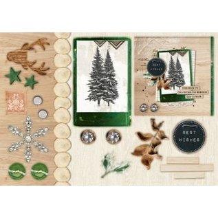 Studio Light Punch blocco A5: Woodland inverno con un foglio di nr.07