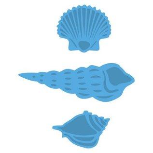 Marianne Design Ponsen sjabloon: zeeschelpen