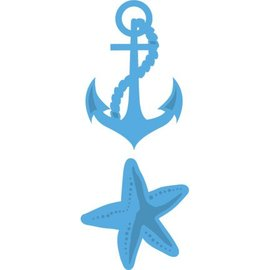 Marianne Design modello di punzonatura: Ancoraggio e Stella del Mare
