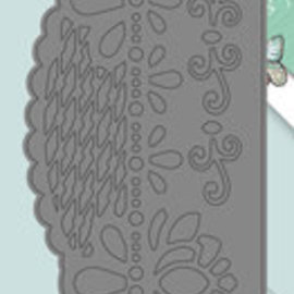 Yvonne Creations Stamping template: border