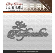 AMY DESIGN AMY DESIGN, Stanzschablonen, deutsche Text: Zur Konfirmation