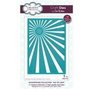 CREATIVE EXPRESSIONS und COUTURE CREATIONS Stamping template: Background Collection - Ray of Light