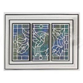 CREATIVE EXPRESSIONS und COUTURE CREATIONS Modèle de poinçonnage: Vitrail Collection, Colibri