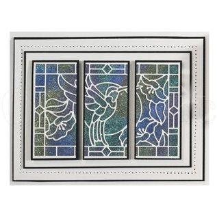 CREATIVE EXPRESSIONS und COUTURE CREATIONS Stanzschablone: Stained Glas Collection, Kolibri  die LETZTE Schablone!