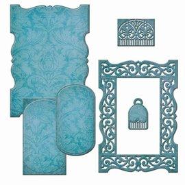 Spellbinders und Rayher La perforación de plantilla: marco decorativo - Sólo 1 en stock