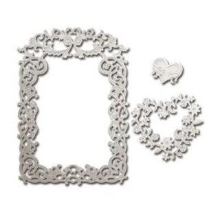 Spellbinders und Rayher Stanzschablone: Rectangular decorative frames - Only 2 in stock