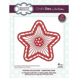 CREATIVE EXPRESSIONS und COUTURE CREATIONS Stanzschablone: This star fits the article Kh446898-CETREATSTAR the plastic stars