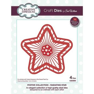 CREATIVE EXPRESSIONS und COUTURE CREATIONS Stanzschablone: ​​This star fits the article Kh446898-CETREATSTAR the plastic stars