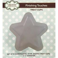 Sæt med 6 plast halv stjerner