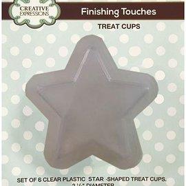 CREATIVE EXPRESSIONS und COUTURE CREATIONS Conjunto de 6 medias estrellas de plástico