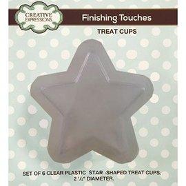 CREATIVE EXPRESSIONS und COUTURE CREATIONS Sett med 6 plast halv stjerner