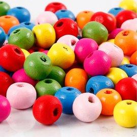 Holz, MDF, Pappe, Objekten zum Dekorieren 100 pièces: perles de bois se mélangent