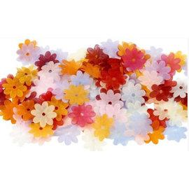 Embellishments / Verzierungen 55 organza bloemen