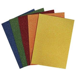 Moosgummi und Zubehör Schuimrubber 15x22x0,2cm, 5 kleuren, 5 stuks, kleurrijke