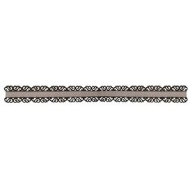 DEKOBAND / RIBBONS / RUBANS ... cinta Organza con punta de filo ornamento en negro
