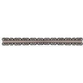 DEKOBAND / RIBBONS / RUBANS ... Organzalint met ornament rand tip in zwart