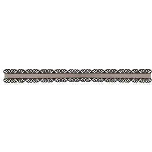 DEKOBAND / RIBBONS / RUBANS ... Organza border with ornamental edge in black